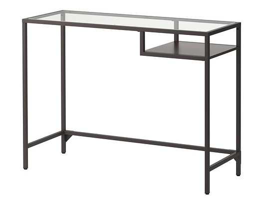 IKEA VITTSJO glass laptop table