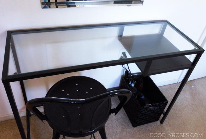 VITTSJO IKEA glass table