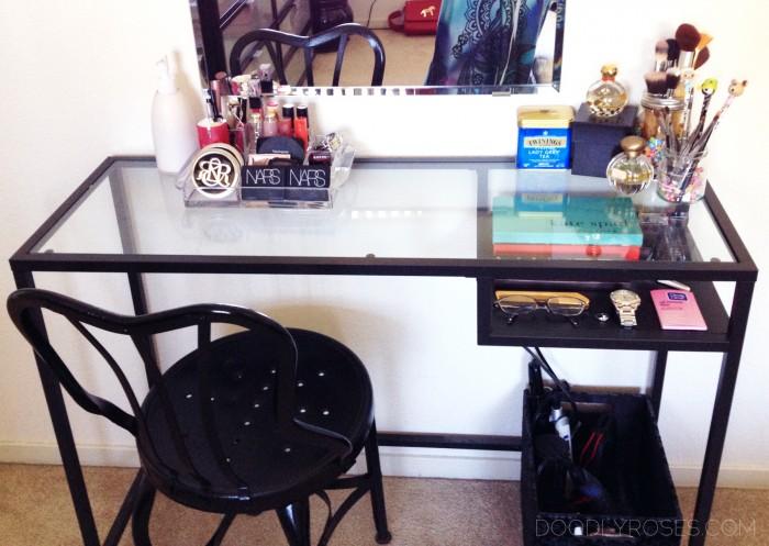 Vanity (IKEA VITTSJO laptop desk)