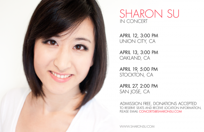 sharon su piano recitals april 2014